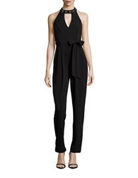 Vince Camuto Beaded Cutout Jumpsuit