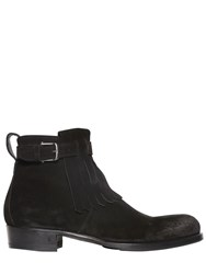 John Varvatos 30Mm Fringed Suede Ankle Boots