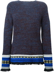 Etro Aztec Hem Sweater Blue