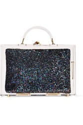 Charlotte Olympia Constellation Perspex Box Clutch Clear