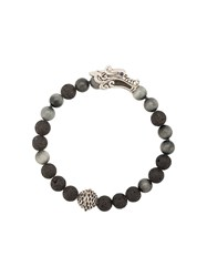 John Hardy Naga Granite And Sapphire Glass Bead Bracelet Black