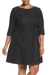 Vince Camuto Plus Size Women's Beaded A Line Dress