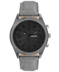 Unlisted Watch Men's Gray Synthetic Strap 47Mm Ul1265