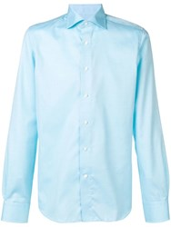 Canali Spread Collar Shirt Blue