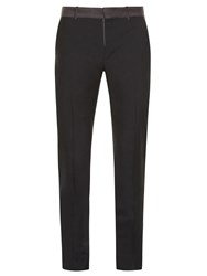 Alexander Mcqueen Ribbon Waist Slim Leg Trousers Dark Grey