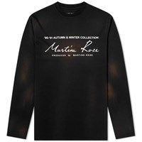 Martine Rose Collection Date Long Sleeve Tee Black