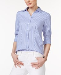 Charter Club Petite Long Sleeve Striped Button Down Shirt Only At Macy's