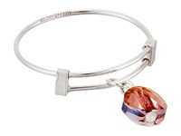 Alex And Ani Crystal Infusion Expandable Wire Ring Orchid Bracelet Sterling Silver Bracelet