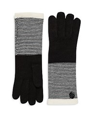 Vince Camuto Striped Knit Gloves Egret