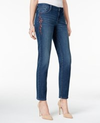 Styleandco. Style Co. Petite Embroidered Marseilles Wash Ankle Jeans Only At Macy's