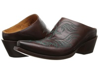 Lucchese M4877 Western Mule Burgundy Cowboy Boots Brown