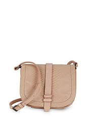 Liebeskind Textured Leather Crossbody Bag Antique Pink