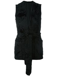 Fendi Vintage Persian Lamb Fur Gilet Black
