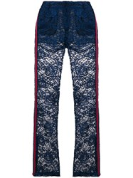Ainea Lace Flared Trousers Blue