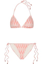 Eberjey Gisele Kate Printed Triangle Bikini Blush