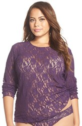 Plus Size Women's Hanky Panky Long Sleeve Lace Tee