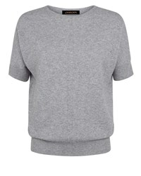 Jaeger Cashmere Slouchy Top Grey