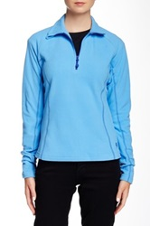 Mountain Hardwear Microchill Zip T Pullover Blue