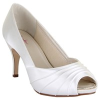 Rainbow Club Sophie Peep Toe Court Shoes Ivory