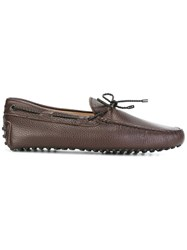 Tod's Lace Up Detailing Loafers Brown