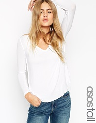 Asos Tall The New Forever T Shirt With Long Sleeves White