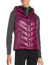 Marc New York Sherpa Lined Hooded Performance Puffer Vest Ripe Fig