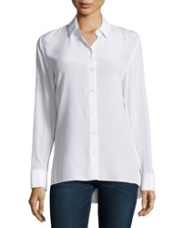 Rag And Bone Hayden Long Sleeve Silk Blouse White