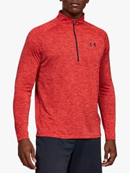 Under Armour Tech 2.0 1 2 Zip Long Sleeve Training Top Red