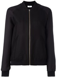 Closed Zipped Bomber Jacket Black