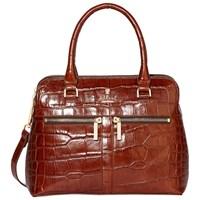 Modalu Pippa Mini Leather Grab Bag Choc Croc