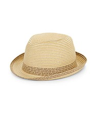 Block Headwear Straw Fedora Black