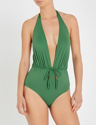 Lazul Ladies Palatina Green Phoenix Plunge Swimsuit