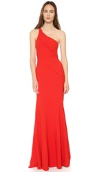 Narciso Rodriguez One Shoulder Gown Red