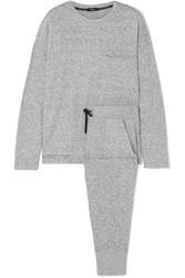 Rails Micah Brushed Jersey Sweatshirt And Track Pants Set Gray