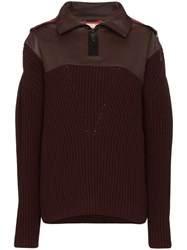 Bottega Veneta Contrast Hood Jumper Red