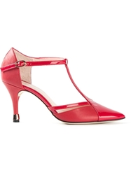 Repetto T Strap Pumps Red
