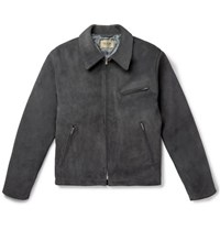 Fear Of God Slim Fit Suede Jacket Charcoal
