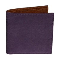 40 Colori Purple Solid Washed Mogador And Leather Wallet Pink Purple