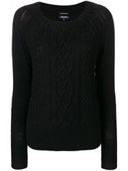 Woolrich Cable Knit Jumper Black