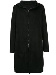 Julius Oversized Hooded Coat Black