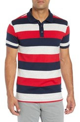 Bobby Jones Rule 58 Regular Fit Wide Stripe Polo Grey