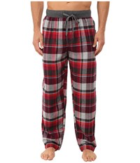 Kenneth Cole Reaction Flannel Sleep Pants Red Madison Plaid Men's Underwear