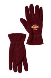 Donegal Bay Iowa State Fleece Gloves Red
