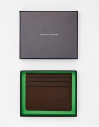Tommy Hilfiger Card Holder In Leather Brown