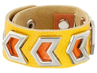 Gypsy Soule Leather Arrow Cutout Bracelet Yellow Bracelet