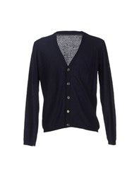 M.Grifoni Denim Knitwear Cardigans Men Dark Blue