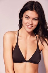 Out From Under Triangle Racerback Bikini Top Black