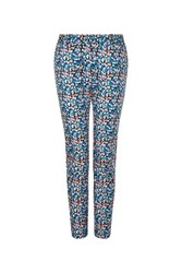 People Tree Alba Trousers In Blue Multi