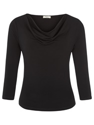 Precis Petite Cowl Neck Top Black