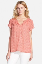 Caslon Cuffed Sleeve Peasant Top Regular And Petite